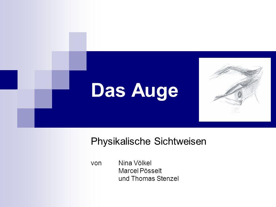 Das Auge Physikalische Sichtweisen von Nina Völkel Marcel Pösselt