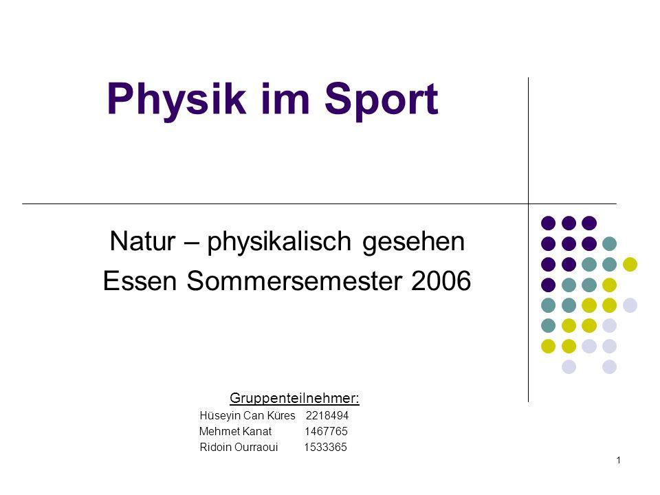 Natur – physikalisch gesehen Essen Sommersemester 2006