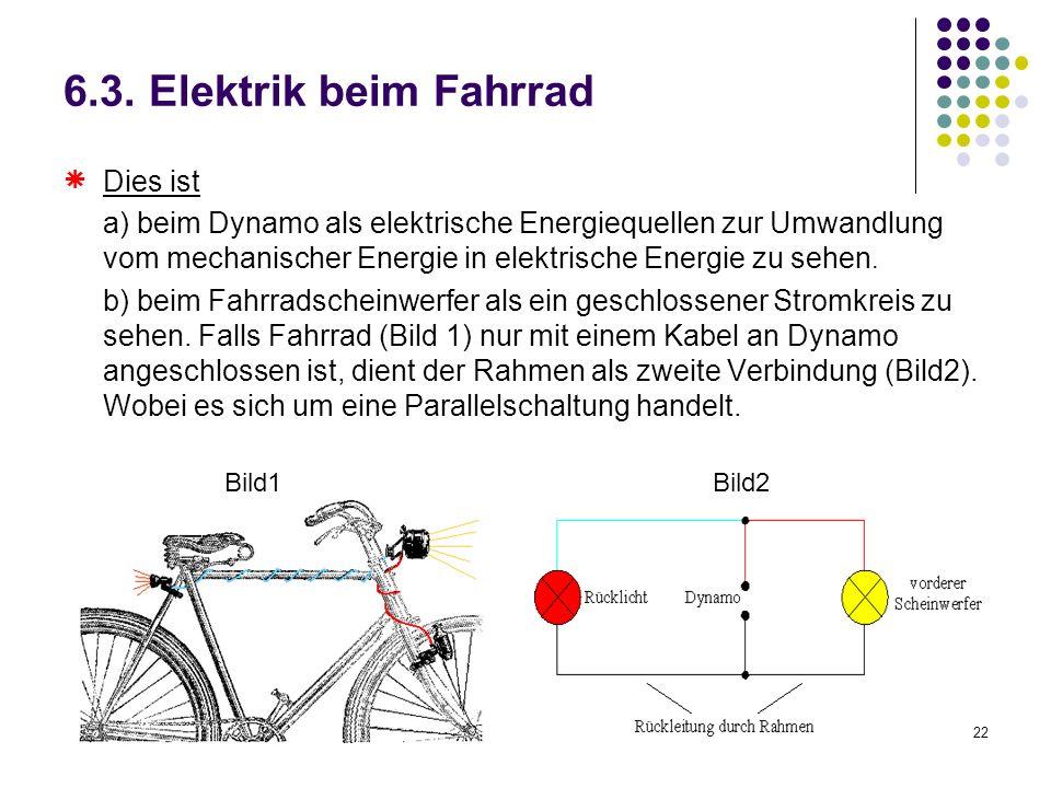 6.3. Elektrik beim Fahrrad  Dies ist
