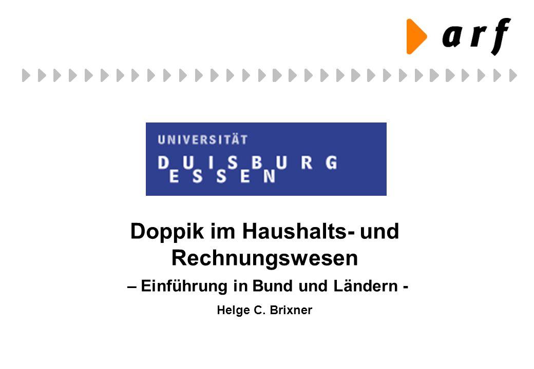 Doppik im Haushalts- und Rechnungswesen – Einführung in Bund und Ländern -
