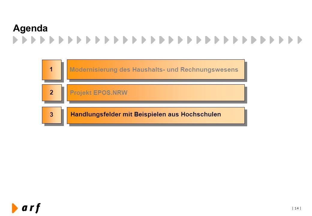 Agenda 1 Modernisierung des Haushalts- und Rechnungswesens 2