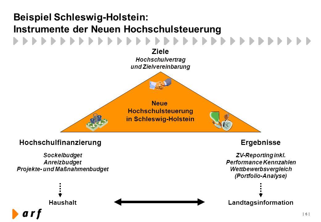Beispiel Schleswig-Holstein: Instrumente der Neuen Hochschulsteuerung