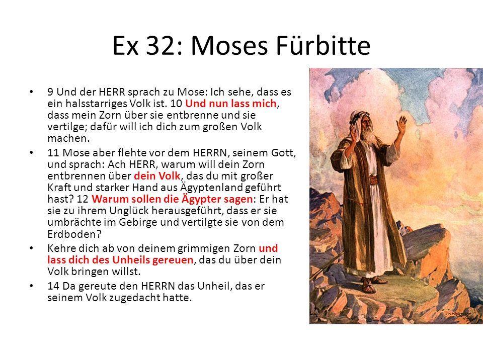 Ex 32: Moses Fürbitte