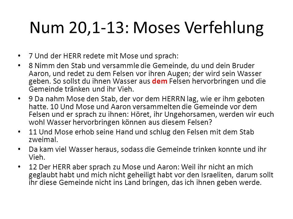 Num 20,1-13: Moses Verfehlung