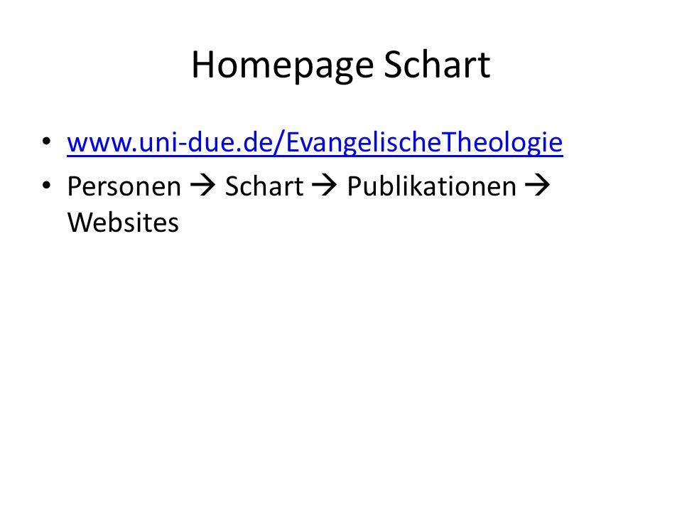Homepage Schart www.uni-due.de/EvangelischeTheologie