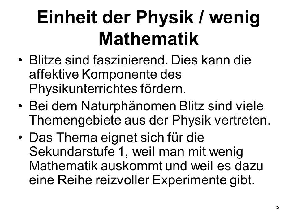 Einheit der Physik / wenig Mathematik
