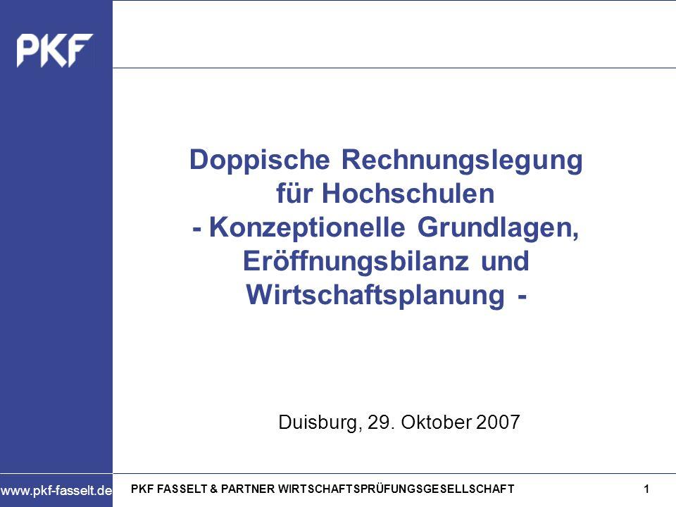 Doppische Rechnungslegung für Hochschulen - Konzeptionelle Grundlagen, Eröffnungsbilanz und Wirtschaftsplanung -