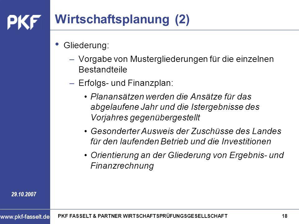 Wirtschaftsplanung (2)