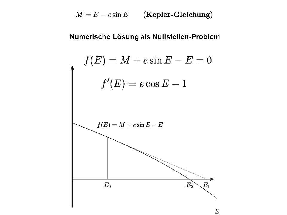 Numerische Lösung als Nullstellen-Problem