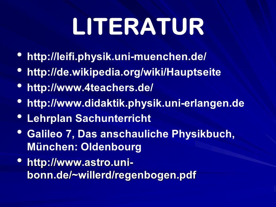 LITERATUR http://leifi.physik.uni-muenchen.de/