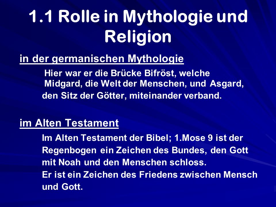 1.1 Rolle in Mythologie und Religion