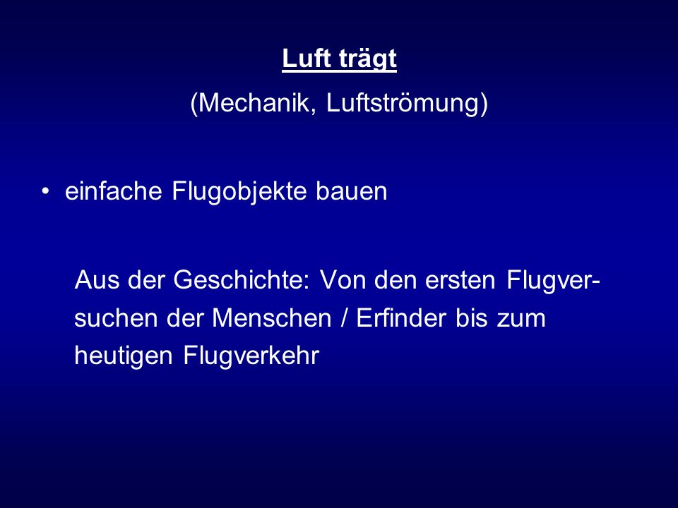 (Mechanik, Luftströmung)
