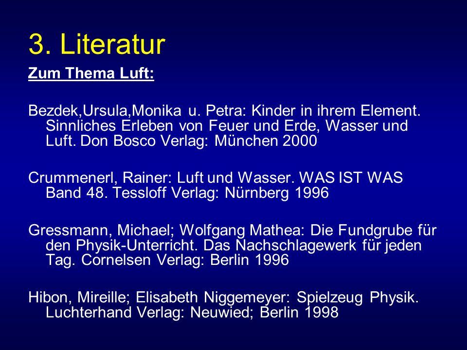 3. Literatur Zum Thema Luft: