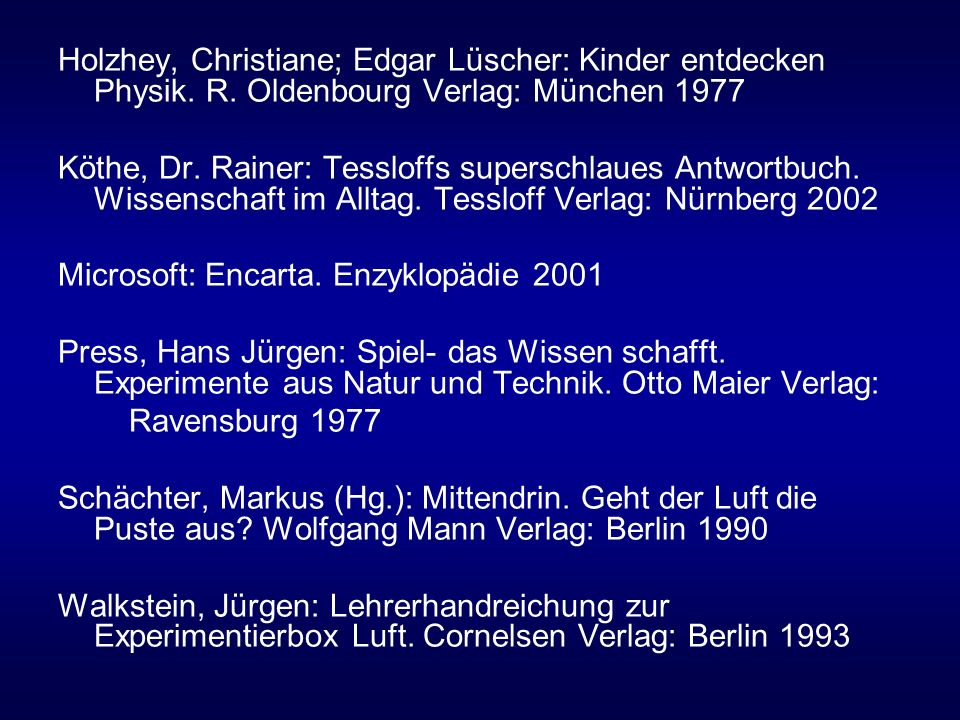 Holzhey, Christiane; Edgar Lüscher: Kinder entdecken Physik. R