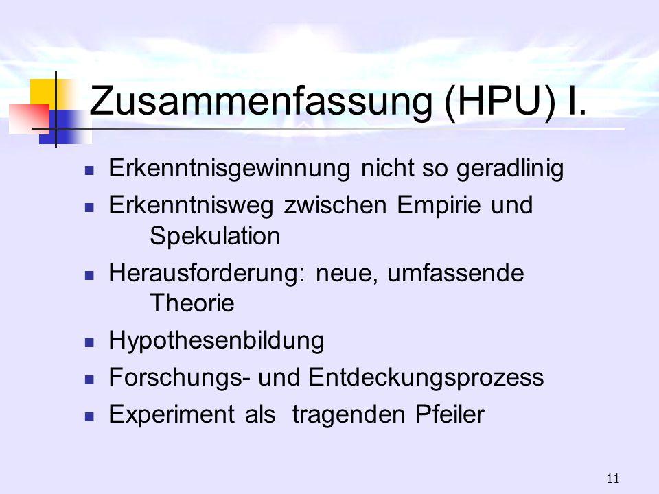 Zusammenfassung (HPU) I.