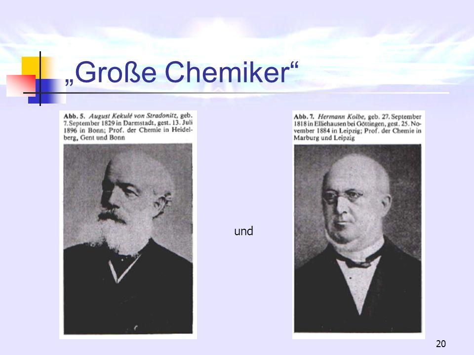 """""""Große Chemiker und"""