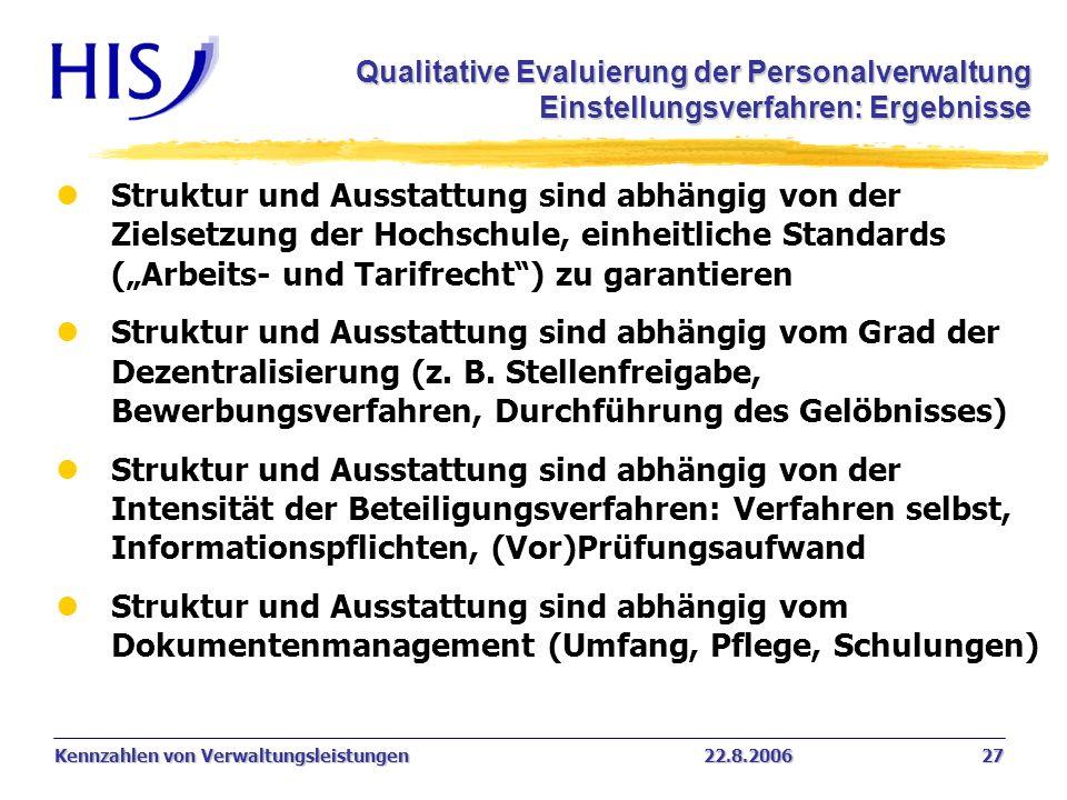 Qualitative Evaluierung der Personalverwaltung