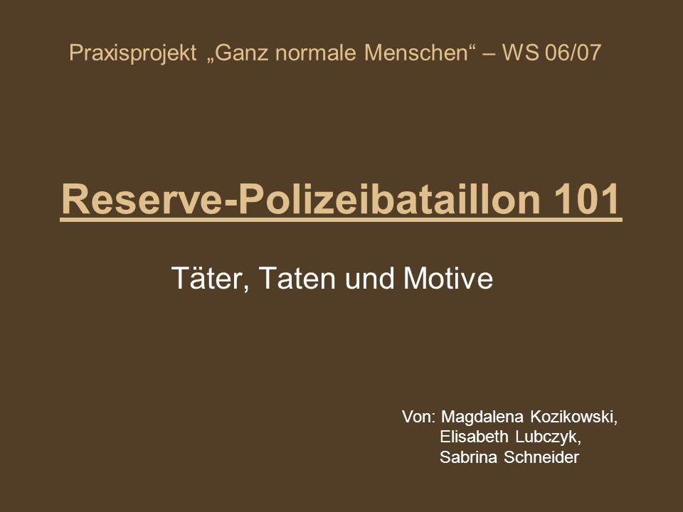 Reserve-Polizeibataillon 101