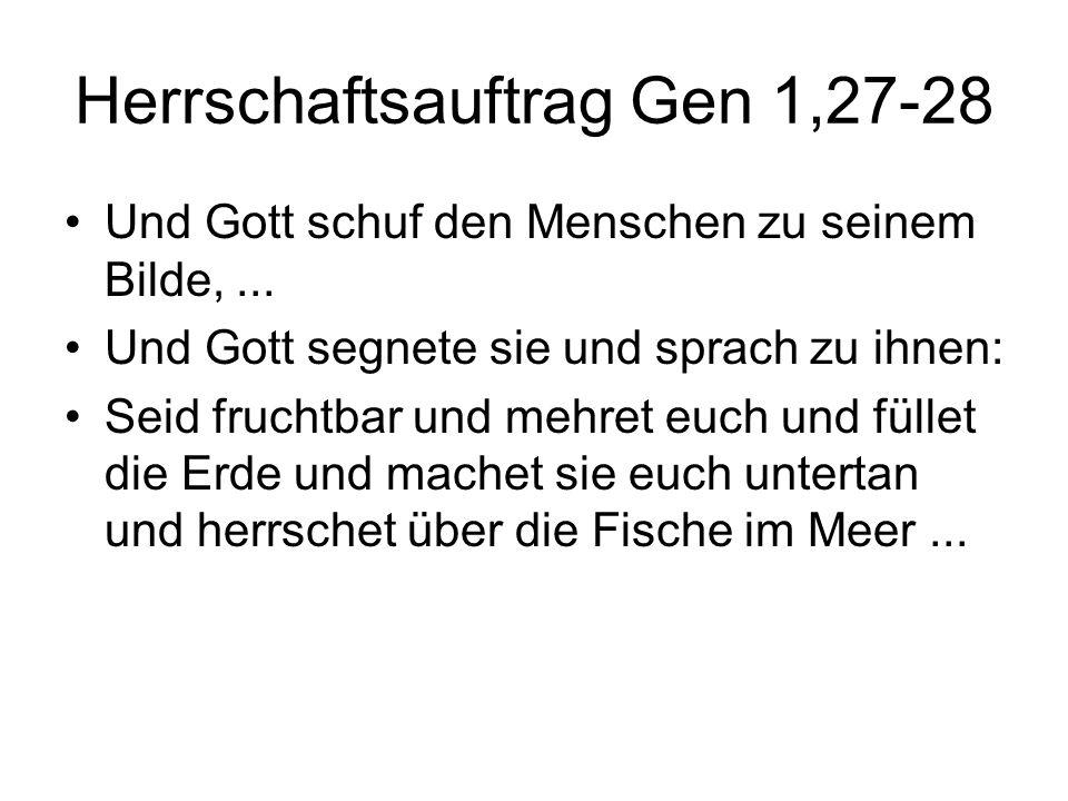 Herrschaftsauftrag Gen 1,27-28
