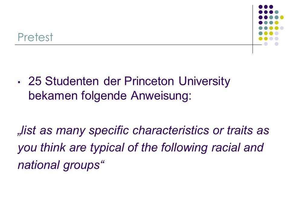 25 Studenten der Princeton University bekamen folgende Anweisung: