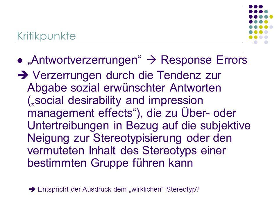 """Antwortverzerrungen  Response Errors"