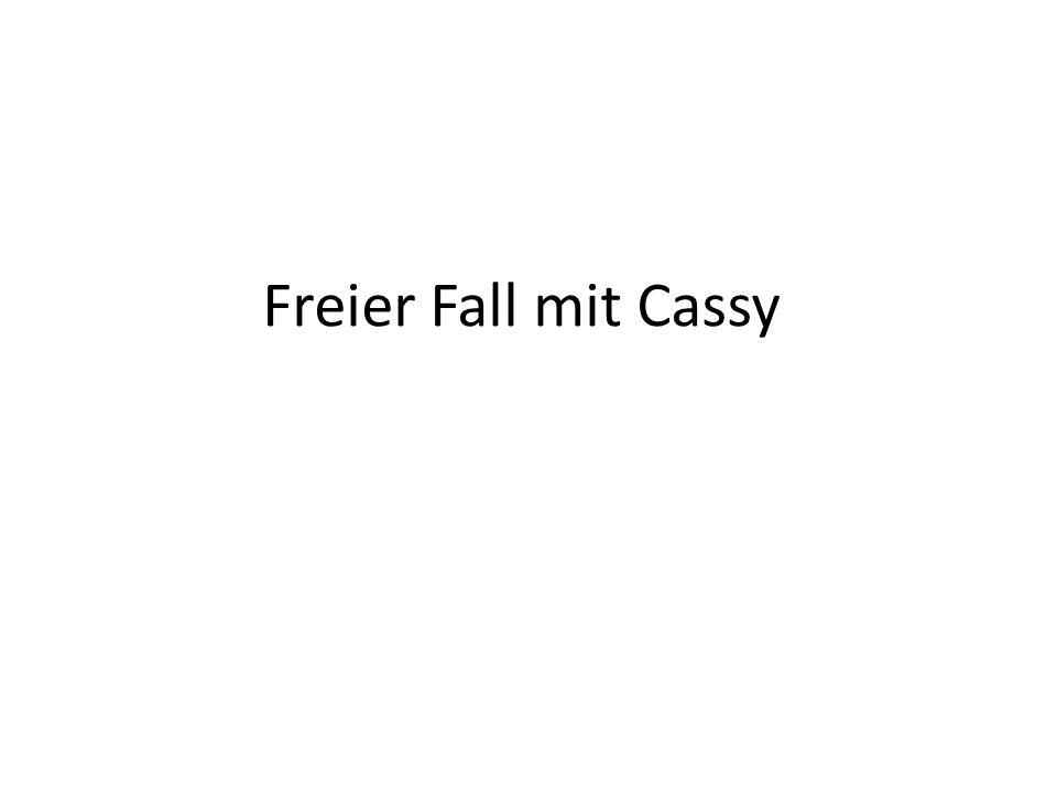 Freier Fall mit Cassy