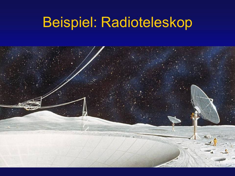 Beispiel: Radioteleskop