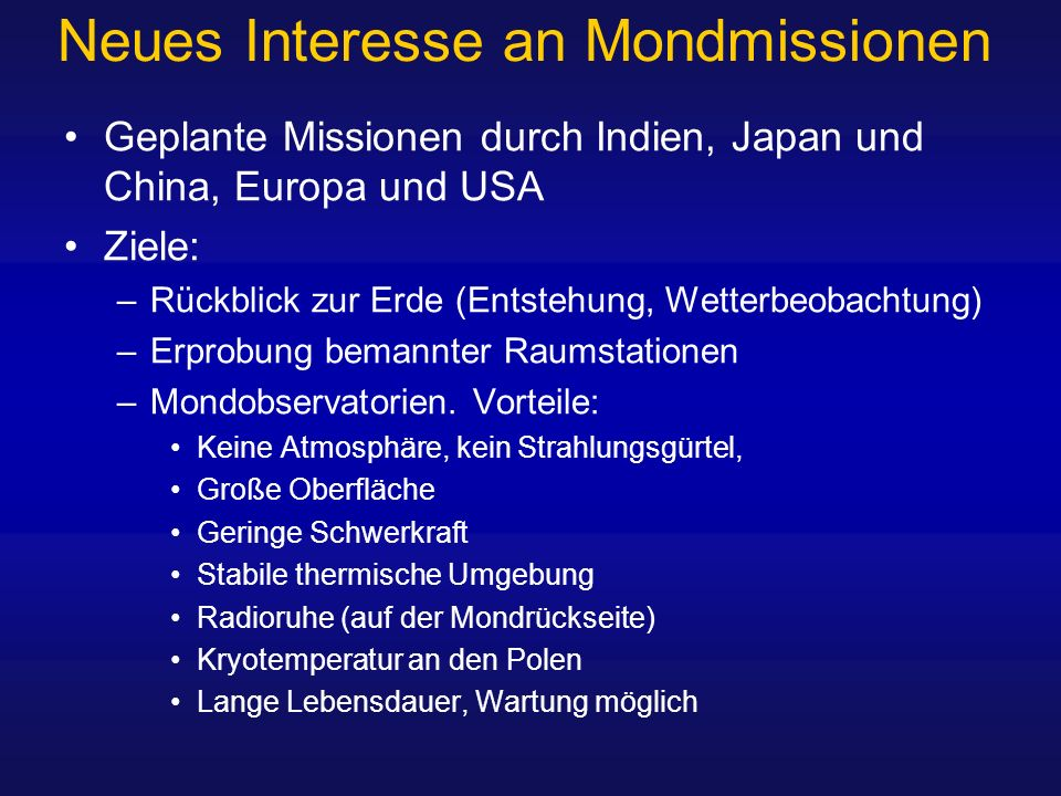 Neues Interesse an Mondmissionen