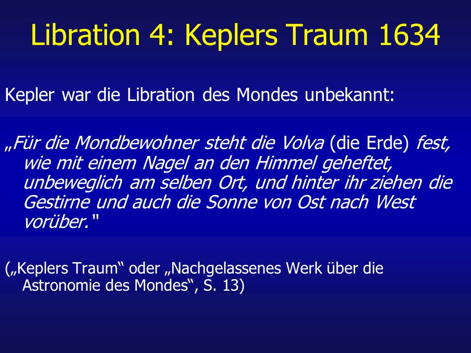 Libration 4: Keplers Traum 1634