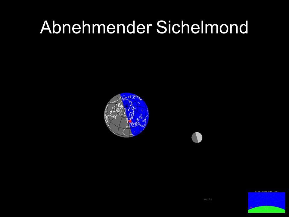 Abnehmender Sichelmond