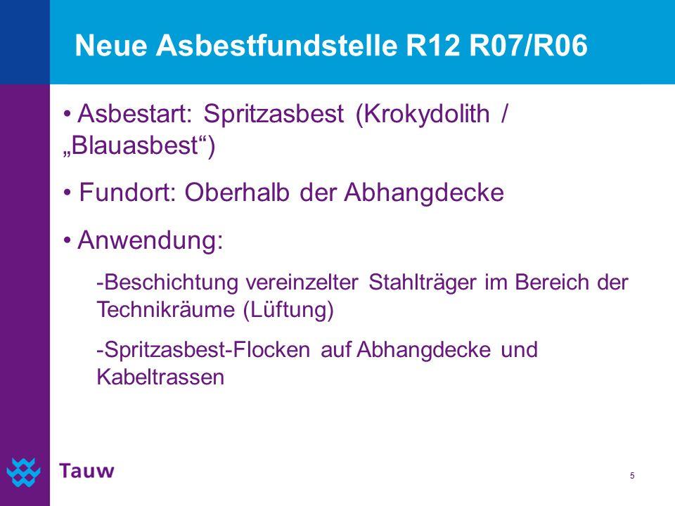Neue Asbestfundstelle R12 R07/R06