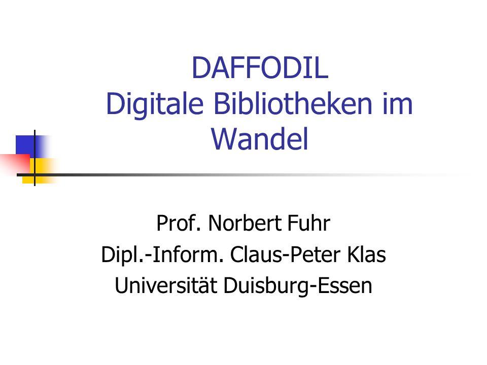 DAFFODIL Digitale Bibliotheken im Wandel
