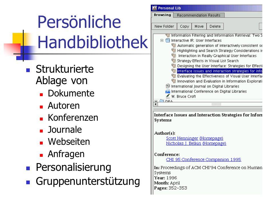 Persönliche Handbibliothek