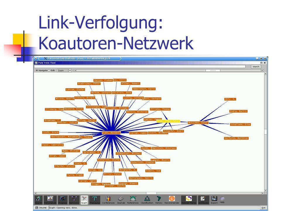 Link-Verfolgung: Koautoren-Netzwerk