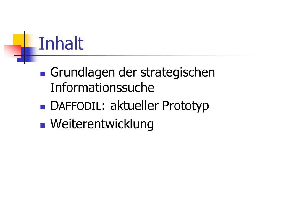 Inhalt Grundlagen der strategischen Informationssuche