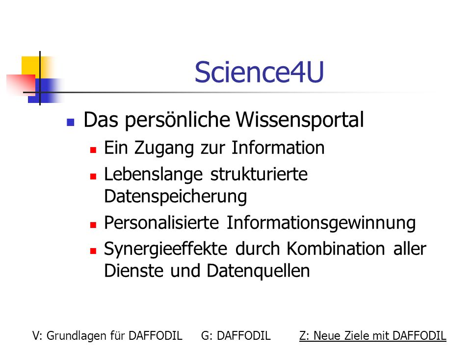 Science4U Das persönliche Wissensportal Ein Zugang zur Information