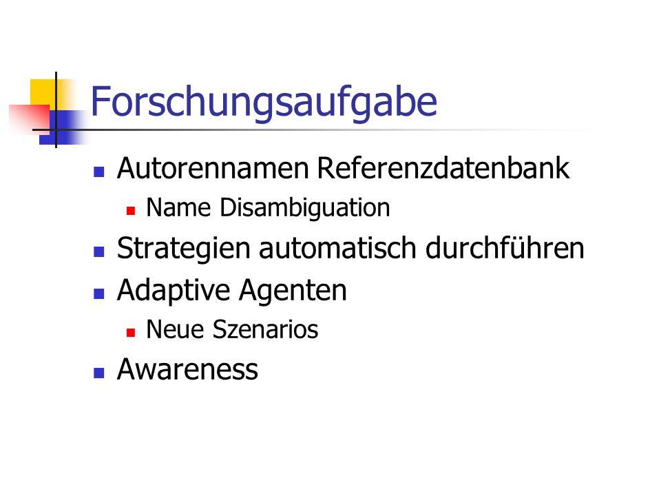 Forschungsaufgabe Autorennamen Referenzdatenbank