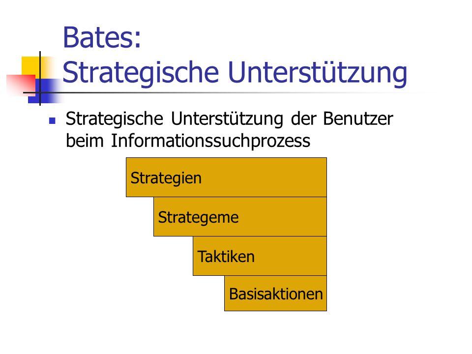 Bates: Strategische Unterstützung