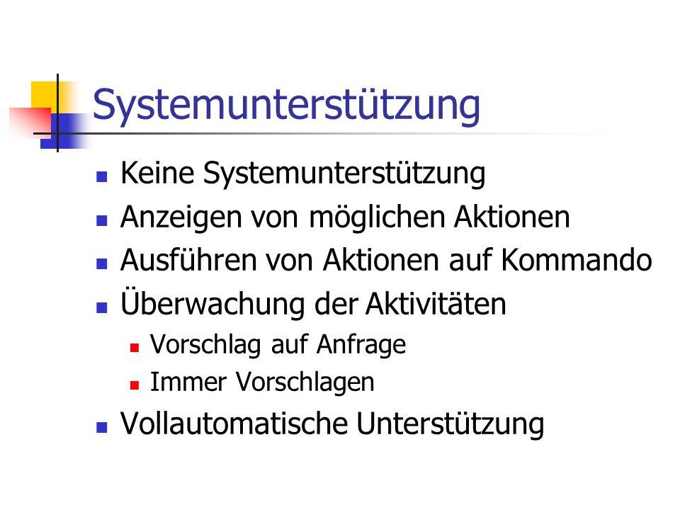 Systemunterstützung Keine Systemunterstützung