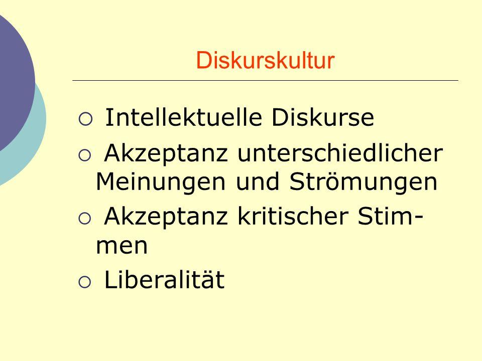 Intellektuelle Diskurse