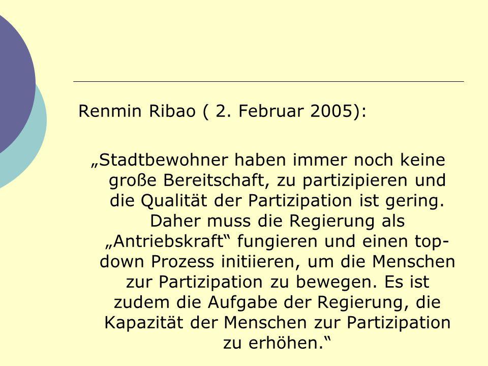 Renmin Ribao ( 2. Februar 2005):