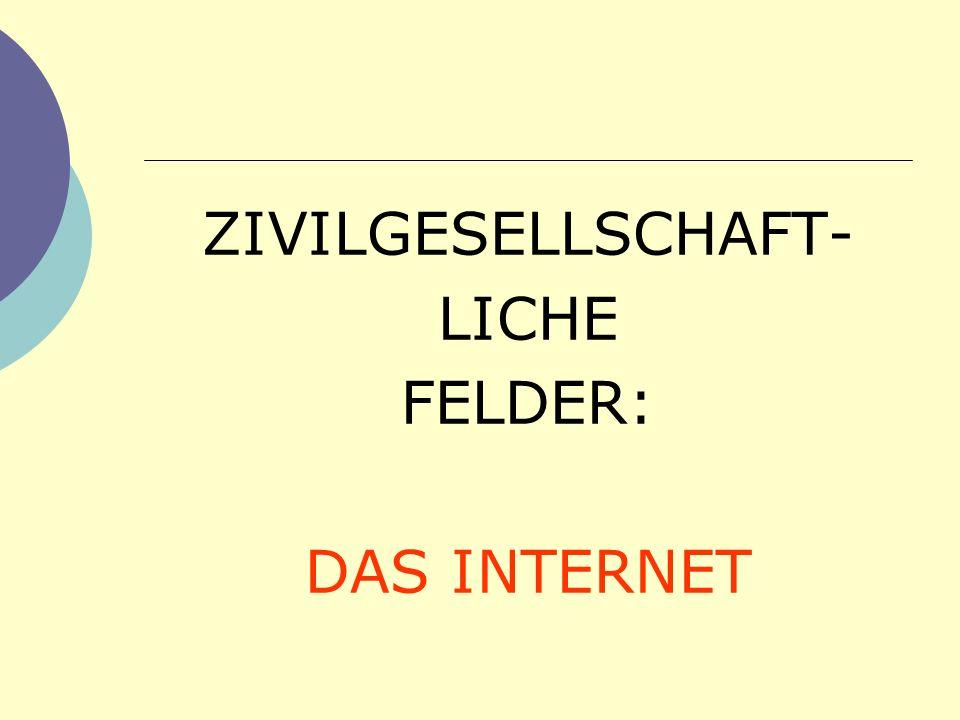 ZIVILGESELLSCHAFT- LICHE FELDER: DAS INTERNET