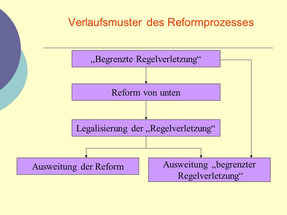 Verlaufsmuster des Reformprozesses