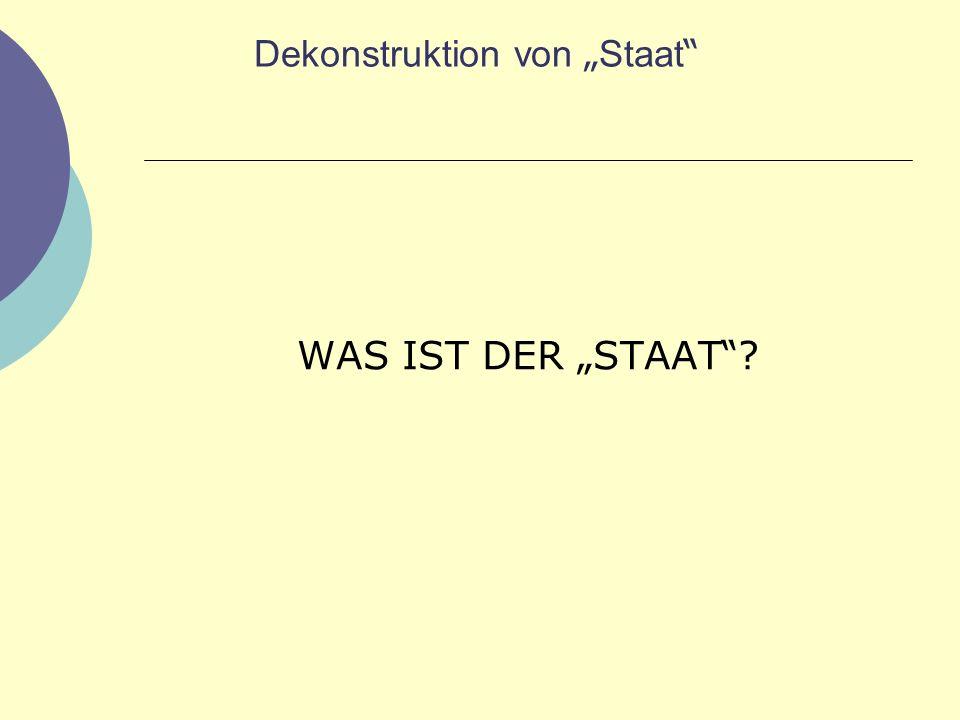 """Dekonstruktion von """"Staat"""