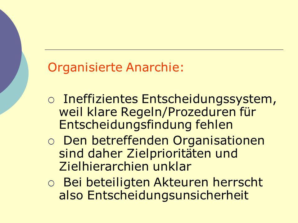 Organisierte Anarchie: