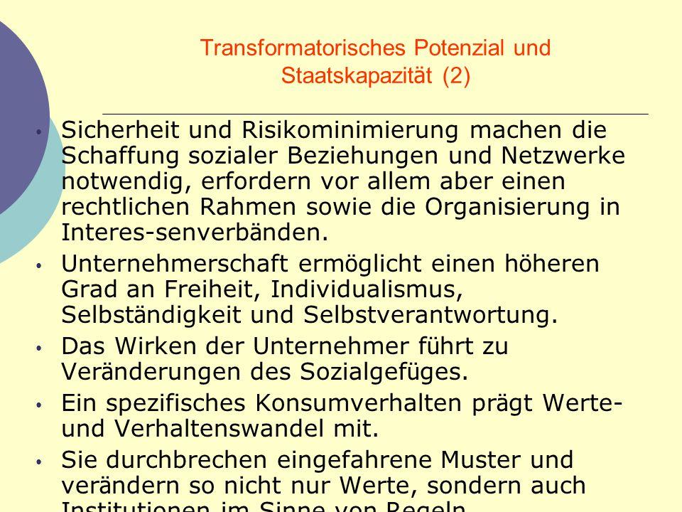 Transformatorisches Potenzial und Staatskapazität (2)