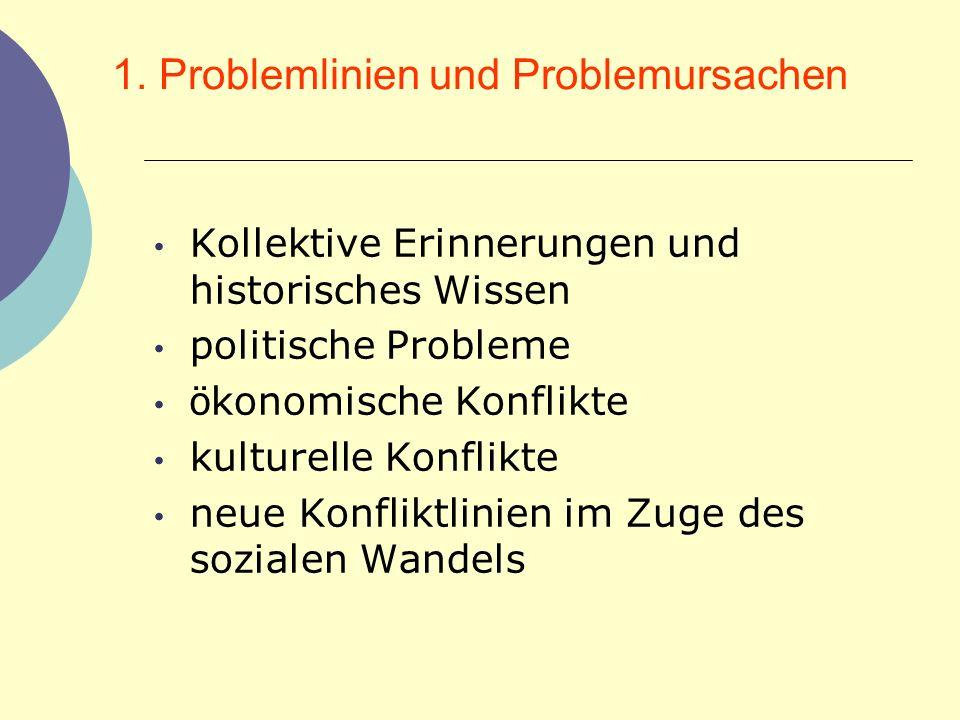 1. Problemlinien und Problemursachen