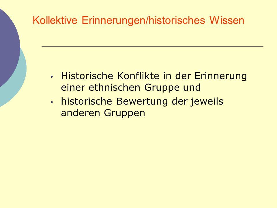 Kollektive Erinnerungen/historisches Wissen