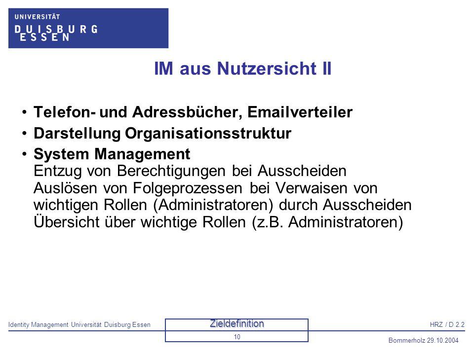 IM aus Nutzersicht II Telefon- und Adressbücher, Emailverteiler