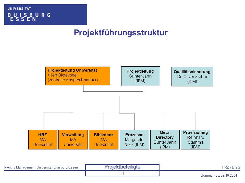 Projektführungsstruktur